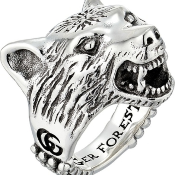 3d90197cbf61 Gucci Sterling Silver Anger Forest Ring